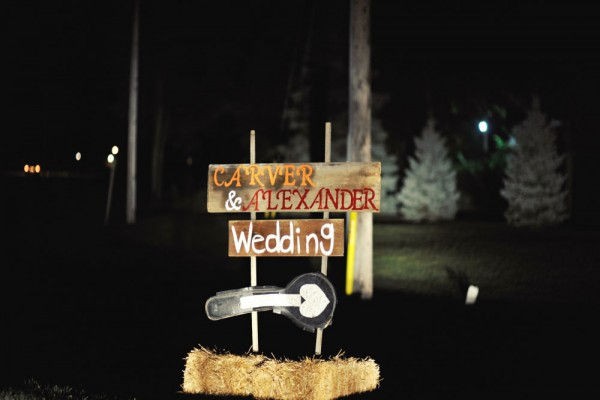 wedding sign megs country celebrations