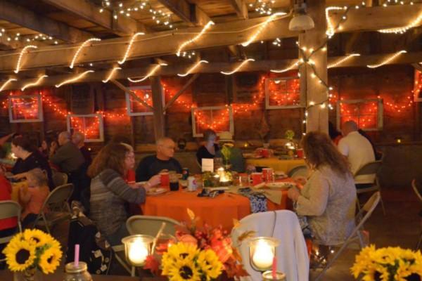 orange reception megs country celebrations