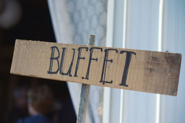 buffet sign megs country celebrations